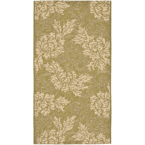 Laurel Olive / Creme Outdoor Area Rug by August Grove