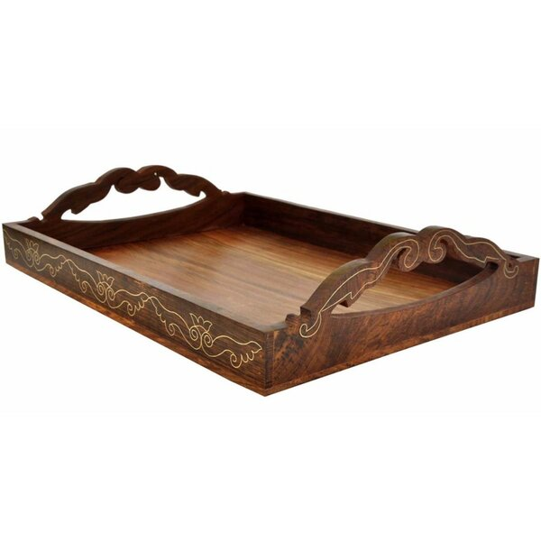 Basche Wooden Serving Tray by Bloomsbury Market