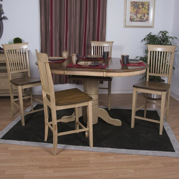 #2 Huerfano Valley 5 Piece Pub Table Set By Loon Peak Great price