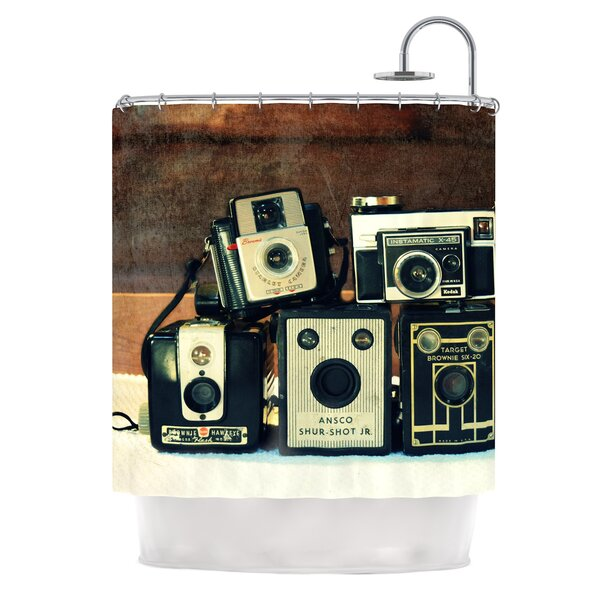 Through the Years by Robin Dickinson Vintage Camera Shower Curtain by East Urban Home