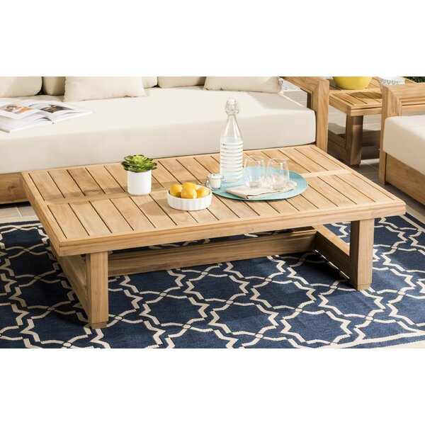 Lakeland Solid Wood Coffee Table by Rosecliff Heights