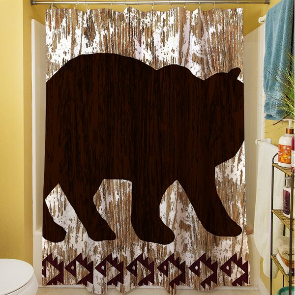 Wilderness Bear Shower Curtain by Manual Woodworkers & Weavers