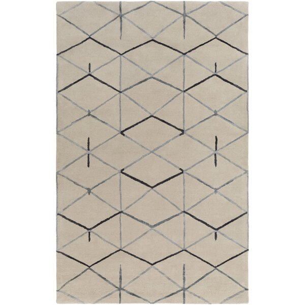 Romola Hand-Tufted Medium Gray Area Rug by Ivy Bronx