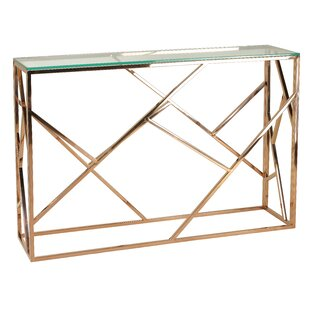 Bellegarde Contemporary Glass Console Table