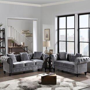 Grainger 2 Piece Velvet Living Room Set by Rosdorf Park