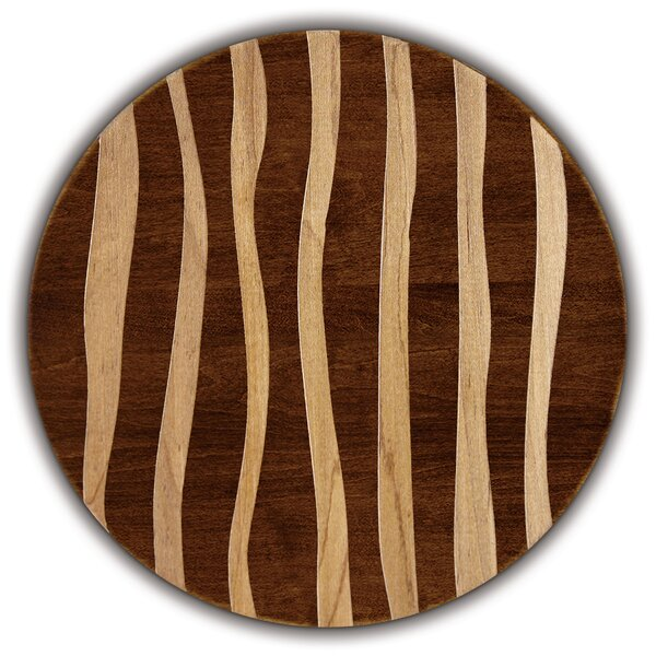 Artisan Woods Wavy Stripe Round Serving Platter by Martins Homewares
