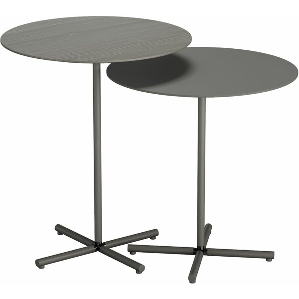 Highbury 2 Piece Nesting Tables by Modloft Black Modloft Black