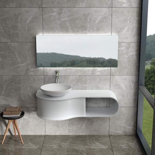 Cherry 47 Wall Mounted Single Bathroom Vanity by Orren Ellis