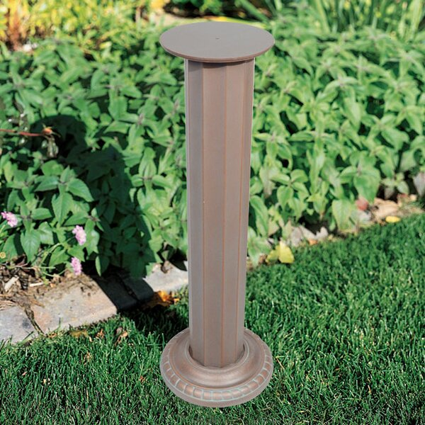 Aluminum Roman Sundial Pedestal by Whitehall Products