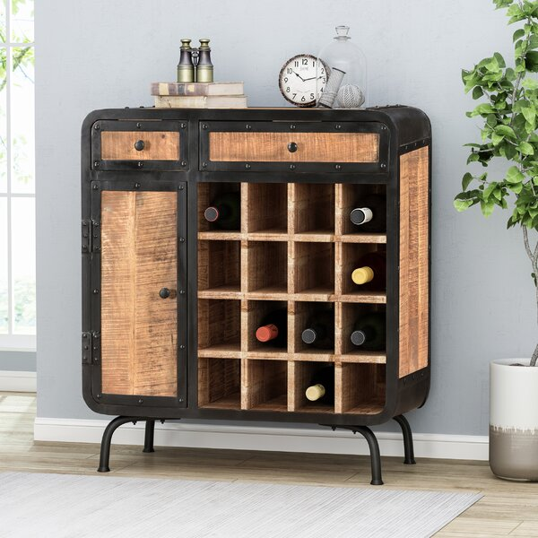 Samir Mango Wood Bar Cabinet by Williston Forge Williston Forge