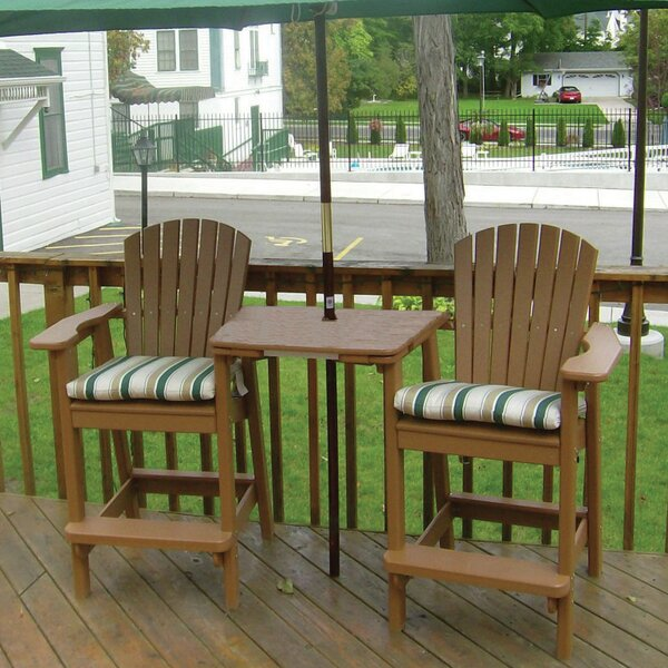 Perfect Choice Plastic Adirondack Chair with Table by Birds Choice