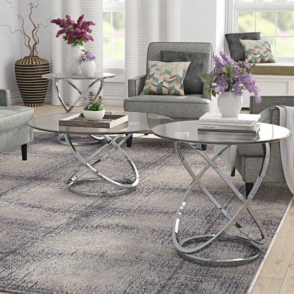 Barbieri 3 Piece Coffee Table Set