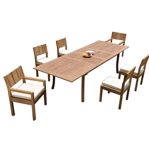 Shamar 7 Piece Teak Dining Set by Rosecliff Heights