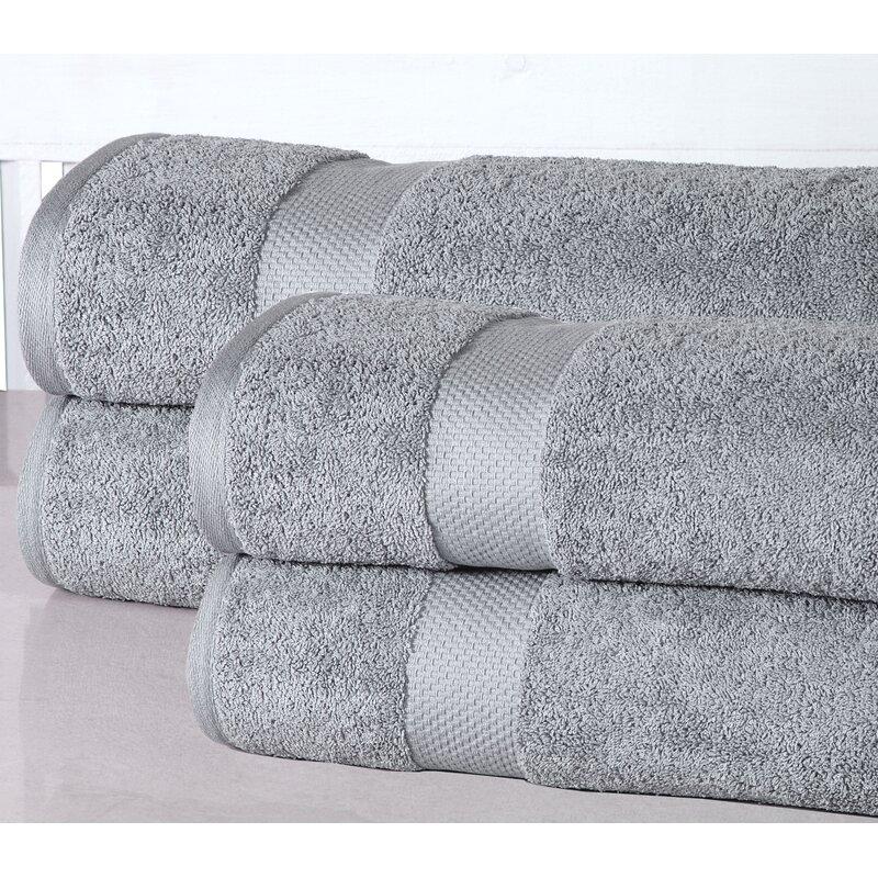 Luxurious 4 Piece 100 Cotton Bath Sheet Towel Set Reviews Joss Main