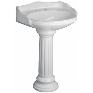 Great choice Victoria Vitreous China Circular Pedestal Bathroom Sink with Overflow By Barclay