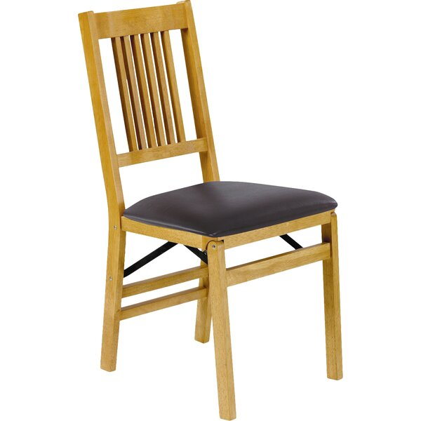 True Mission Wood Folding Chair (Set of 2) by Stakmore Company, Inc.