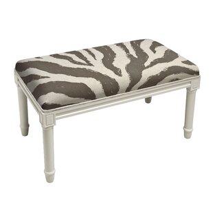 Apolonio Zebra Stripe Wood Bench