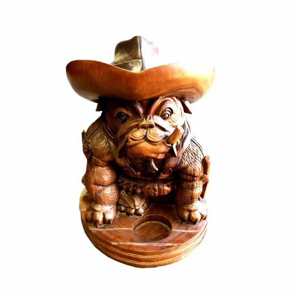 Ryals Bulldog Cowboy Figurine by Millwood Pines