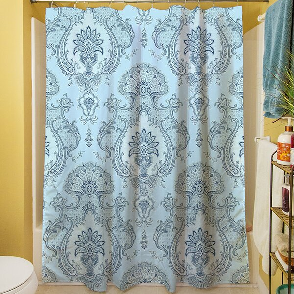 Damask Shower Curtain by Manual Woodworkers & Weavers