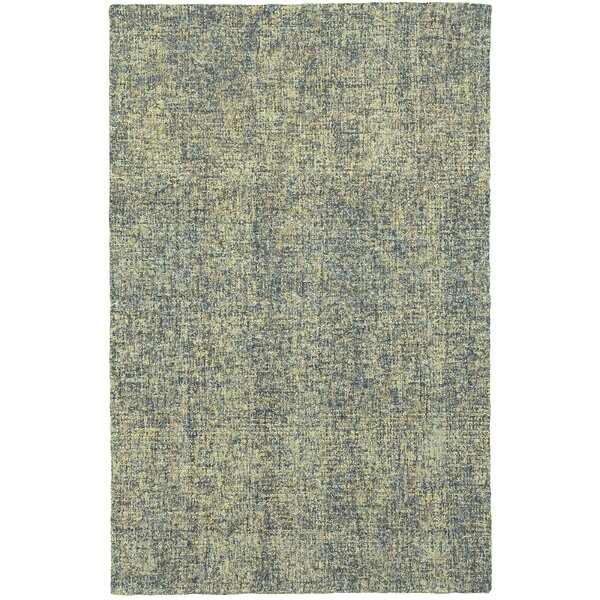 Laguerre Boucle Hand-Hooked Wool Blue/Green Area Rug by Gracie Oaks