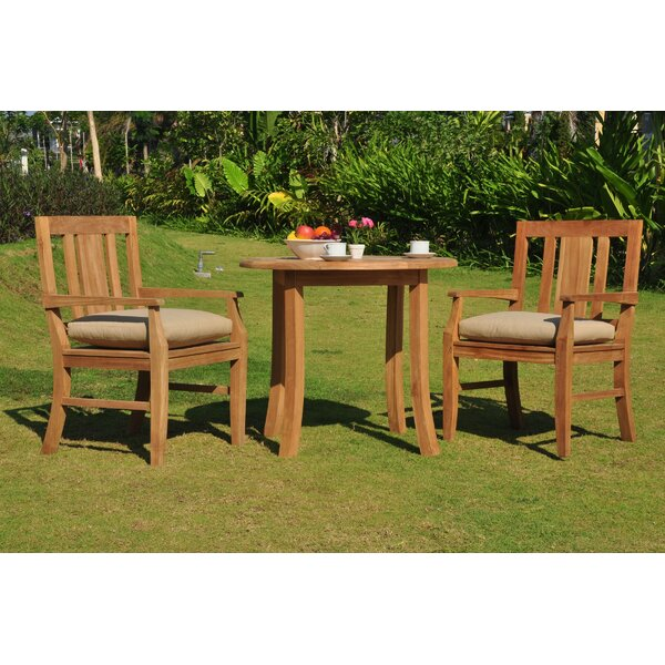 Kevon Luxurious 3 Piece Teak Bistro Set