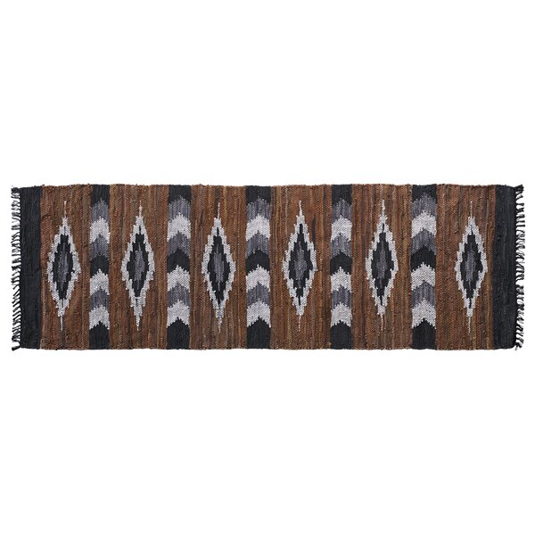 Snake River Canyon Leather Brown/Black Indoor Area Rug by Home Furnishings by Larry Traverso