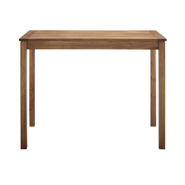 Makayla Wooden Bar Table by Gracie Oaks