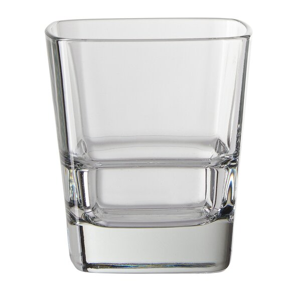 Litchfield 12 oz. Square Shape Double Old Fashioned Glass (Set of 4) by Greyleigh