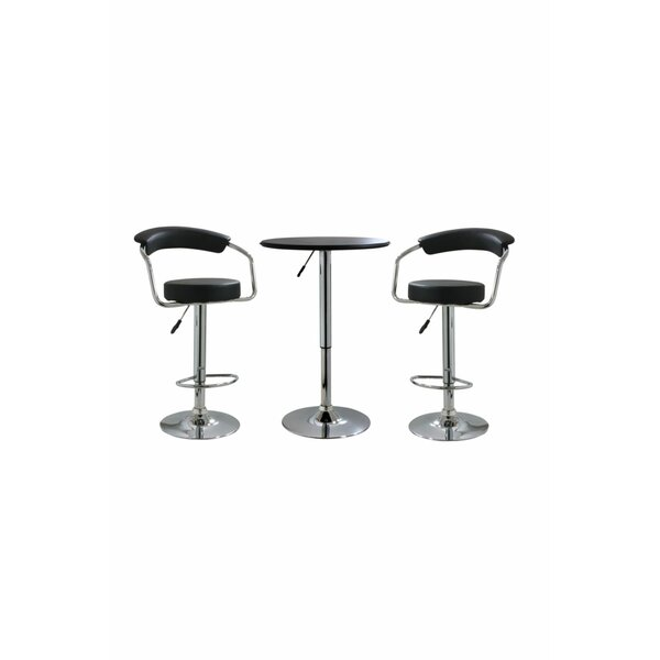 Heinemann 3 Piece Adjustable Pub Table Set by Ebern Designs