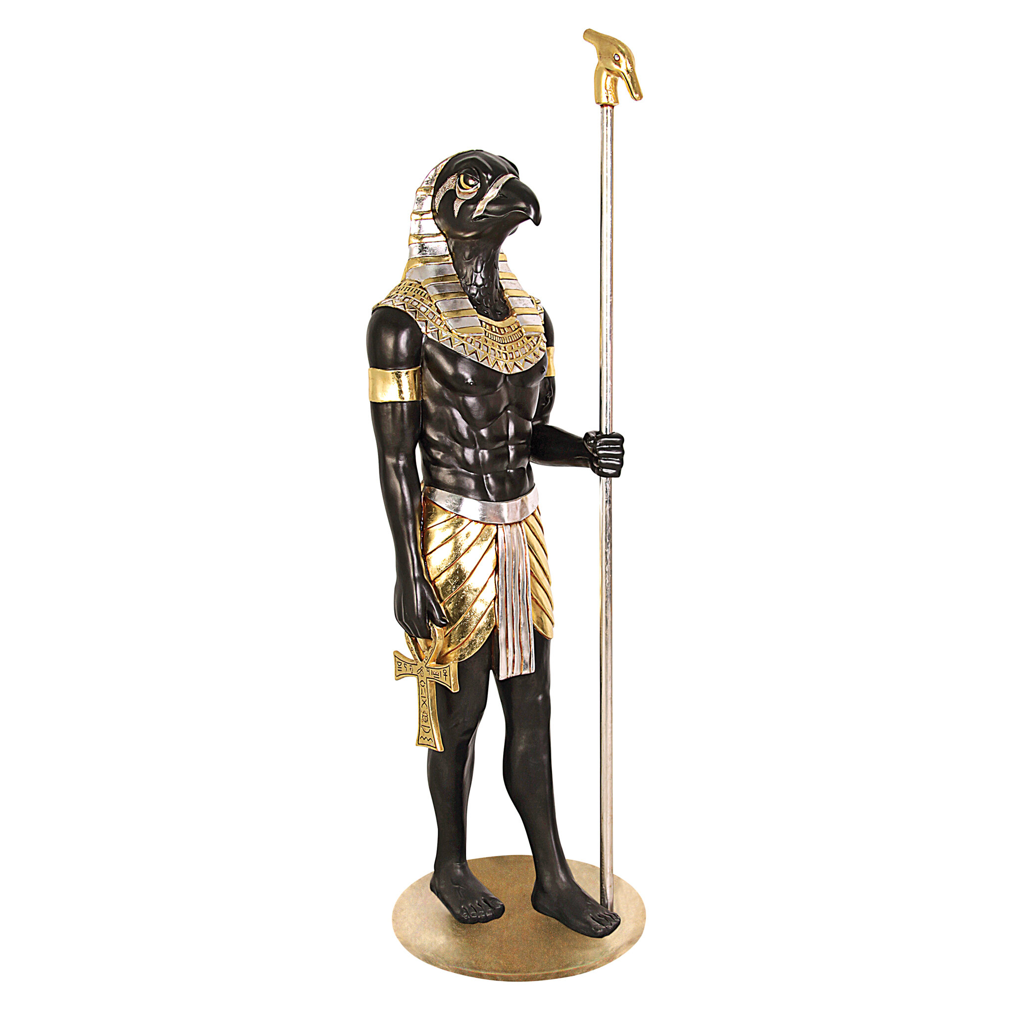 Design Toscano The Egyptian Grand Ruler Life - Size Horus Statue ...