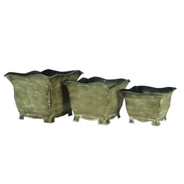 3 Piece Metal Planter Box Set by Entrada