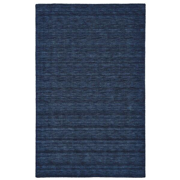 Larissa Hand-Woven Dark Blue Area Rug by Brayden Studio