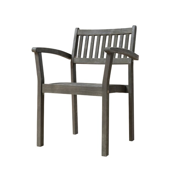 Drees Stackable Patio Dining Chair (Set of 2) by Darby Home Co