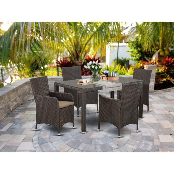 Torrey Balcony 5 Piece Dining Set with Cushions by Wrought Studio
