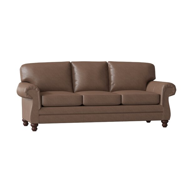 Katlyn Leather Sofa By Wayfair Custom Upholstery™