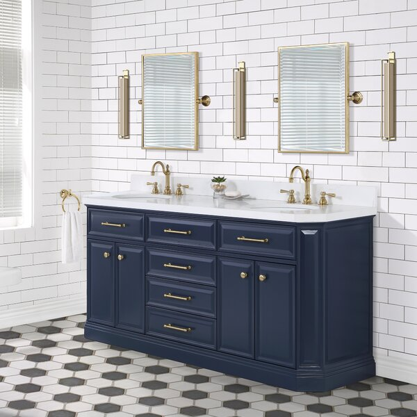 Palace 72 Double Bathroom Vanity Set with Mirror