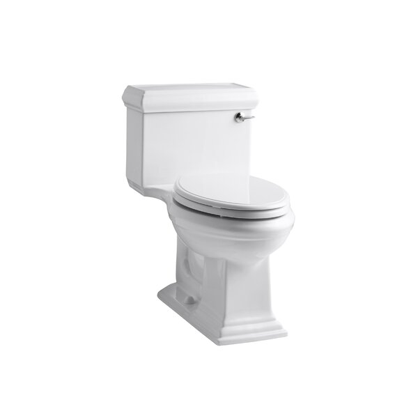 Memoirs Classic Comfort Height One-Piece Elongated 1.28 GPF Toilet with Aquapiston Flush Technology and Right-Hand Trip Lever by Kohler
