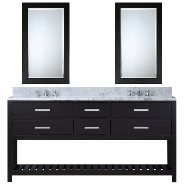 Berghoff 72 W Double Sink Bathroom Vanity Set with Mirror by Andover Mills