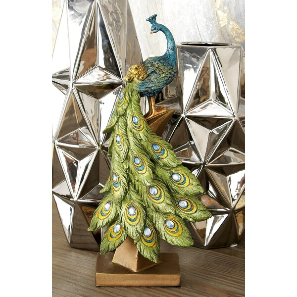 Bienville Peacock Table Décor Figurine by Astoria Grand