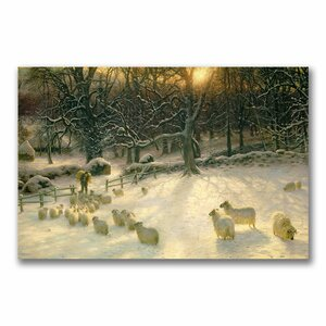 The Shortening Winter's Day by Joseph Farquharson Photographic Print on Canvas by Trademark Fine Art