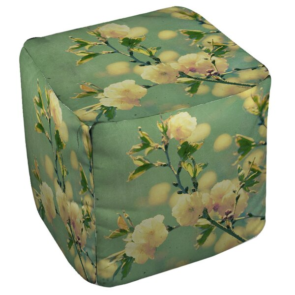 Vintage Botanicals Pouf by Manual Woodworkers & Weavers