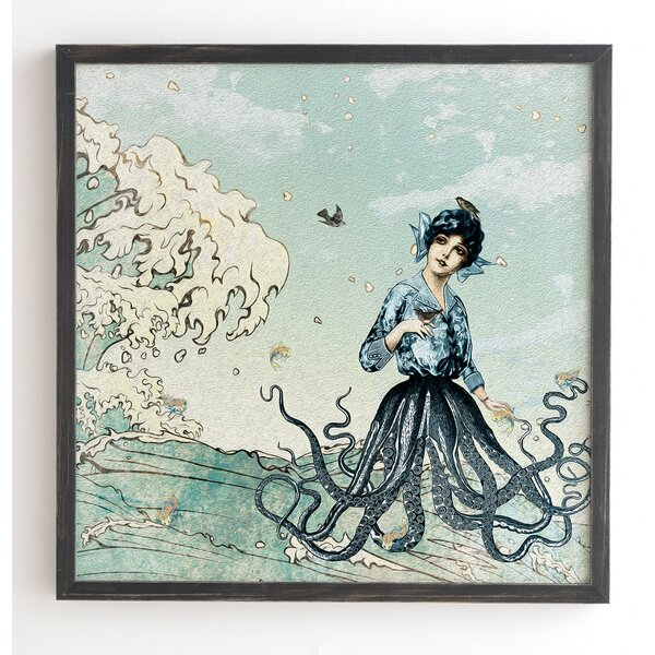 Sea Fairy Framed Graphic Art by East Urban Home