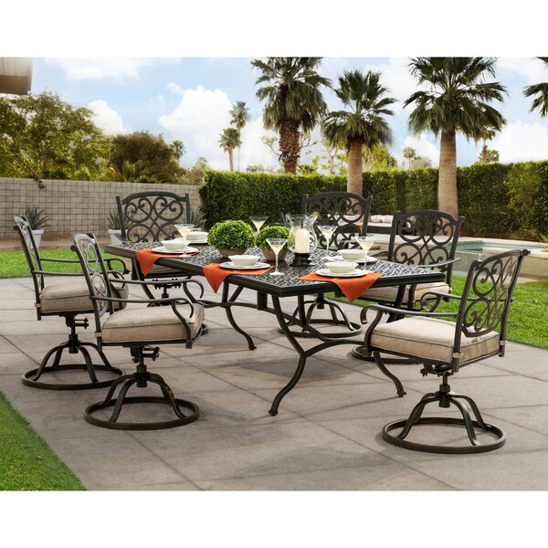 Tyrell 7 Piece Dining Set with Cushions by Darby Home Co