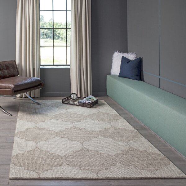 McCollum Hand-Tufted Wool Beige Area Rug by Alcott Hill