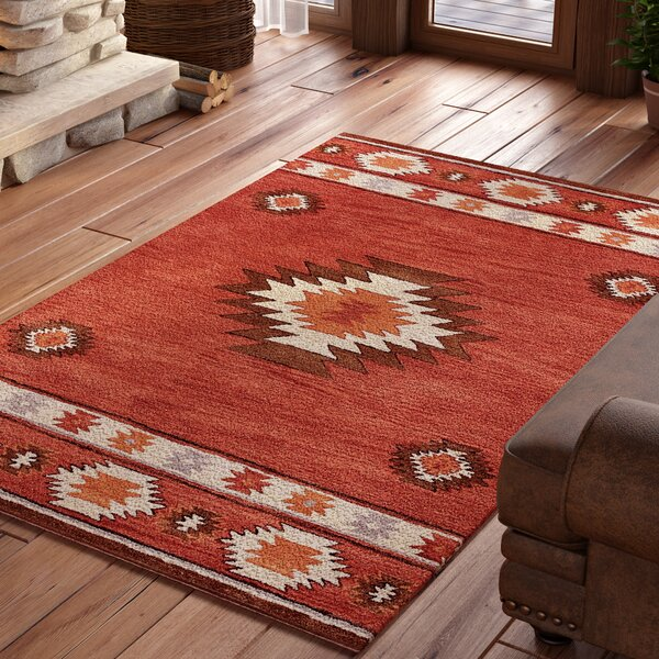 Joshua Hand-Tufted Red Wine Area Rug by Loon Peak
