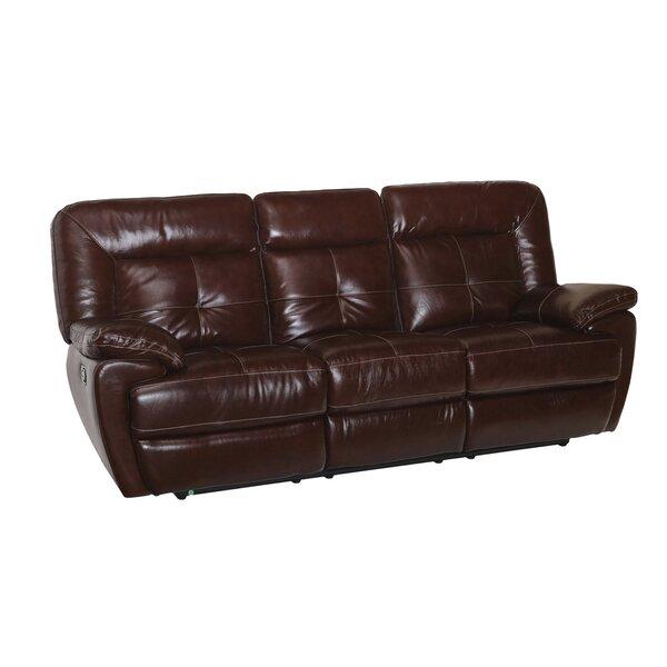 Duffett Leather Reclining Sofa by Red Barrel Studio