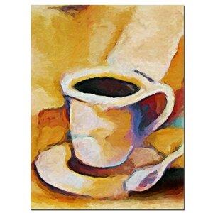 'Coffee' by Adam Kadmos Painting Print on Canvas by Trademark Fine Art