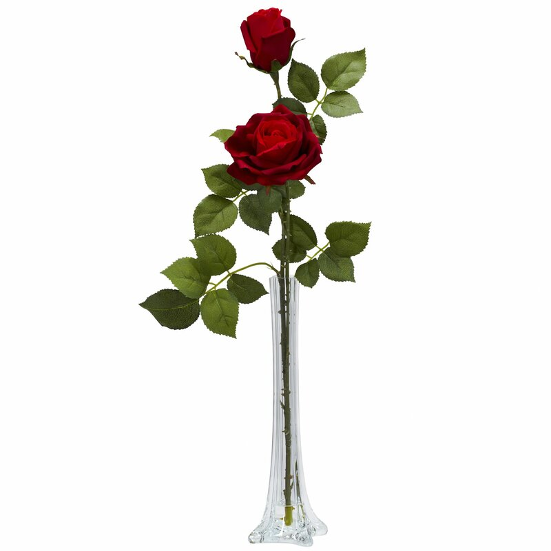 Nearly Natural Roses w/Tall Bud Vase Silk Floral Arrangements ... on floral arrangements, glass bowl arrangements, florist arrangements, small vase arrangements, vase of flowers, tea pot arrangements, vase drawing, vase on table, large vase arrangements, art deco arrangements, vase made of paper, vase in the ground, tulip arrangements, vase standing on artificial flowers, silk arrangements, tiger lily vase arrangements, tall vase arrangements, brass plate arrangements, daisy bud vase arrangements, rose arrangements,