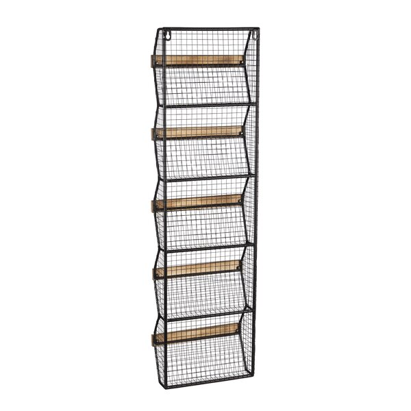 Callahan Metal Wall Shelf with Wire Bins by Gracie Oaks
