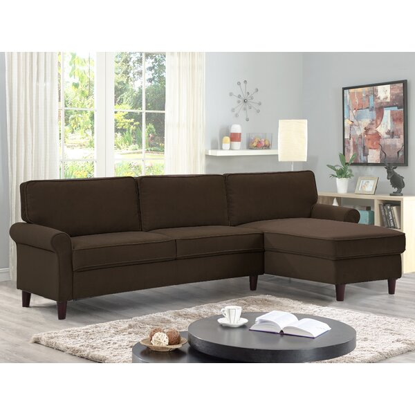 New High-quality Milltown Sectional by Alcott Hill by Alcott Hill
